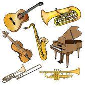 Ensemble d'instruments de musique — Photo