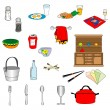 Set of kitchen stuff — Stock Vector #41736125