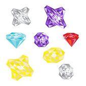 Set of gems — Cтоковый вектор
