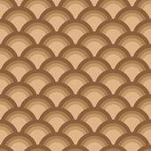 Pez escamas marrones de patrones sin fisuras — Vector de stock