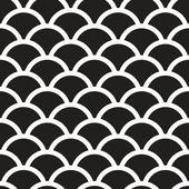 Fish scales  monochrome  Seamless Pattern — Stock Vector