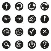 Chalk doodles icons set — Vector de stock