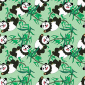 Pandas seamless pattern — Stock Vector