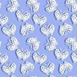 Paper Butterflies seamless pattern — Stock Photo #45083853