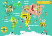 Kids world map — Stock Photo