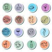 Food and drink doodles icons set — Stock Vector