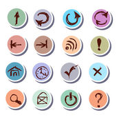 Web Icons doodles stickers icons set — Stock Vector