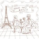 Paris Date Card — Stock Photo