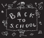 Back to school chalk doodles — Stock Photo