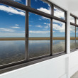 Sea out side windows — Stock Photo
