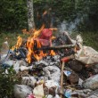 Rubbish burn — Stock Photo