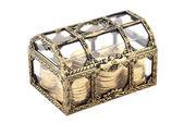 Baú dourado — Fotografia Stock