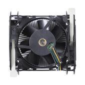 Ventilador do dissipador de calor de processador usado do cooler isolado no fundo branco — Fotografia Stock