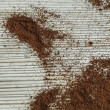Coffee powder texture — Stock Photo