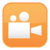 Orange video icon — Stock Vector