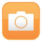 Orange camera icon — Stock Vector