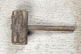 Antique wooden hammer (Still life) — Stok fotoğraf