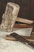 Antique carpenter tool (Still life) — Stock Photo