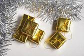 Cute golden gift box — Stock fotografie
