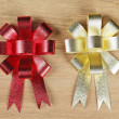 Red and Golden ribbon — Stock Photo