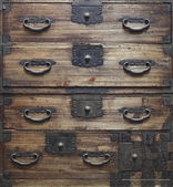 Antuque wooden drawers background (Still life) — Stock Photo