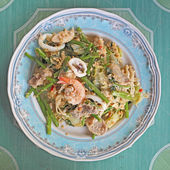 Fried noodle with seafood — Foto Stock