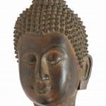 Buddha bronze mask isolated on white background — Stock Photo #43084281