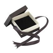 коричневый подарочной коробке, изолированные на белом фоне — Стоковое фото