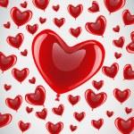Vector Glossy Heart Balloon — Stock Vector #30803745