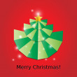 Christmas Tree Card Background — Stock Vector