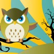 Owl Halloween background — Stock Vector