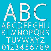 Set of alphabet vector — Stock Vector