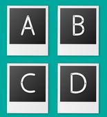 Set of screw alphabet vector — Stock Vector
