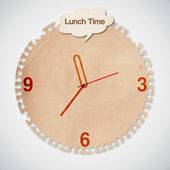 Clock with Lunch Time Words Concept Vector — Stock Vector