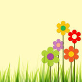 Spring background with flowers — Stock Vector