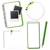 Papier pour ordinateur portable vert collection — Vecteur