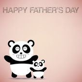 Happy Father's Day with Panda — Stock Vector