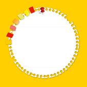 Papier cercle avec signet — Vecteur