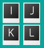 Set of screw alphabet — Stock Vector