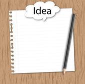 Papel con idea conceptual — Vector de stock