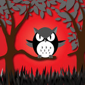 Angry owl — Stock Vector