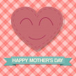 Happy Mother's Day Smile Heart — Stock Vector