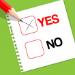 Yes or No Vote Ballot — Stock Vector
