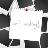Dont smoking — Vettoriale Stock