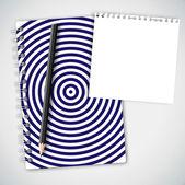 Notebook padrão circular — Vetor de Stock