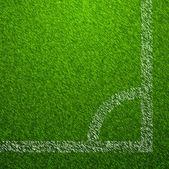 Futbol alan köşe — Stok Vektör