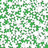 Abstract puzzle scatter on green — Stock Vector