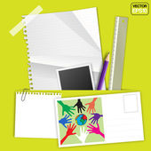 Stationery Set Design — Stock vektor