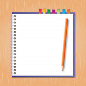 Ordinateur portable avec un crayon — Vecteur