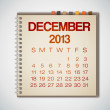 2013 Calendar December Notebook Vector — Stock Vector #31303137